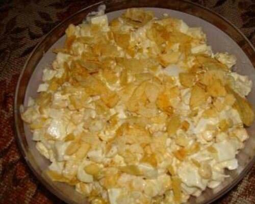 Салат парус с чипсами картофелем рецепт с пошагово 129